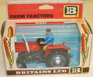 VINTAGE-TOYS-MASSEY-FERGUSON-TRACTOR-MODEL-MADE-BY-BRITAINS-IN-1975-DJ
