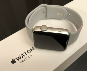 Apple watch series 3 42mm GPS, Silver Aluminum, Fog sport band