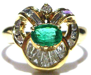 levian 18k yellow gold 45 emerald 55ct