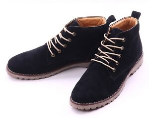 Fashion British Mens Casual Lace Suede Ankle Boots Loafers Shoes Sneakers