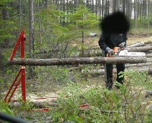 Chevalet pour débiter du bois de chauffage artisanal !