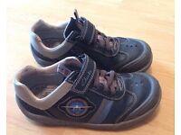 Boys blue Jet planes Clarks shoes. Size 11F