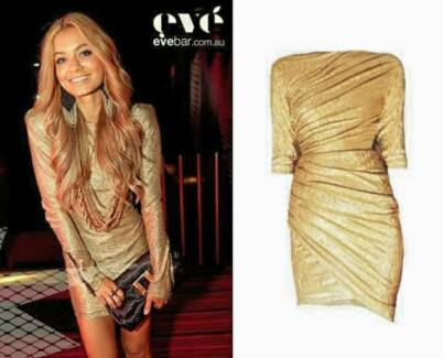 KITTY GRACE GOLD DRESS - SIZE M West Perth Perth City Preview