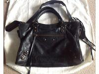 Authentic Balenciaga Iconic Designer Black City Bag