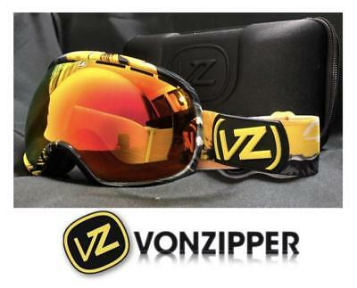 VONZIPPER GOGGLES NEW WITH HARD CASE ORANGE LENSES JAPAN FIT MODEL SNOWBOARD (Von Zipper Goggle Case)