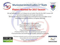 Murieston United Ladies looking for players