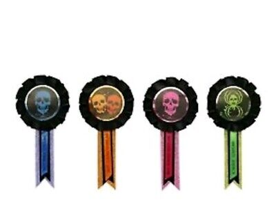 1 packs of 4 Halloween best costume awards trick or treat party favors scariest