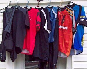 shorts, shoes, jerseys, tri suit