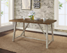 Rustic Dining Table Farmhouse Modern Country Kitchen Wood Distressed Metal New