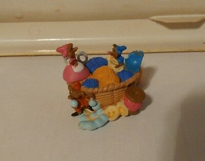 DISNEY CINDERELLA'S MICE IN SEWING BASKET PVC FIGURE CAKE TOPPER