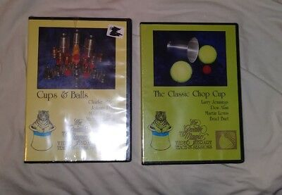 CHOP CUP & CUPS AND BALLS 2 DVD LARRY JENNINGS DON ALAN CHARLIE MILLER  Chop Cup Balls
