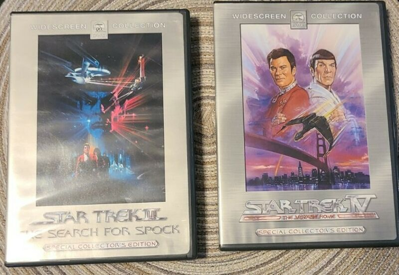 Star Trek III The Search for Spock & Star Trek IV The Voyage Home DVD Sets Combo