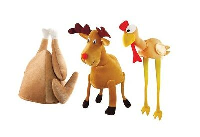 Christmas / Thanksgiving Novelty Hat (Turkey / Reindeer) Silly Fancy Dress Party - Silly Christmas Hats