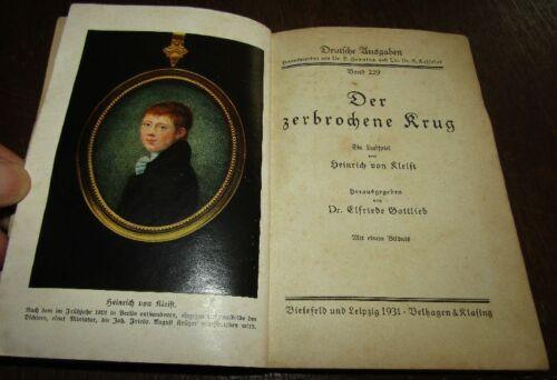 Heinrich von KLEIST (1777- 1811) Der zerbrochene Krug 1931 Deutsche Ausgaben 229
