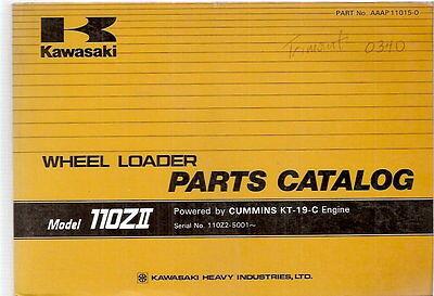 Kawasaki 110zii Wheel Loader Parts Catalog Manual