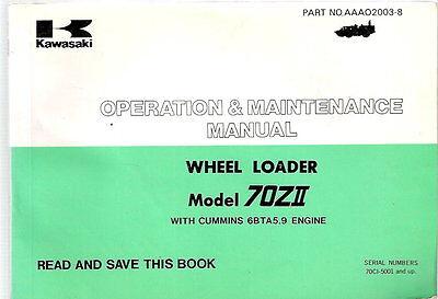 Kawasaki 70zii Wheel Loader Operation Maintenance Manual