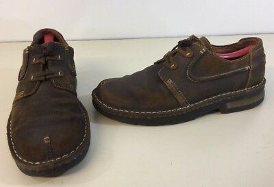 Clarks Brown Suede Leather Shoes Men 12 Clean Mildly Distressed No Damage