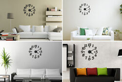 Modern Large Design Home Room Decor 3D DIY Sticker Day Time Wall Clock