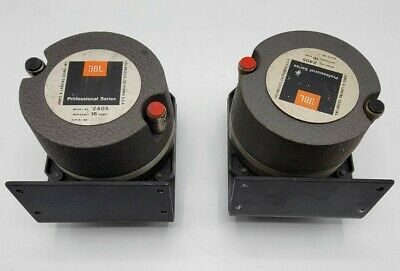 Pair of JBL Professional Line 2405 Slot Tweeter With Mount - 16ohm. Nice!