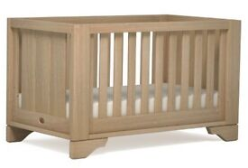 Boori Cot with mattress and conversion kit to single bed