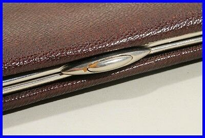 1930ies Chestnut Brown leather pouch for10 or more LARGE fountain pens /pencils