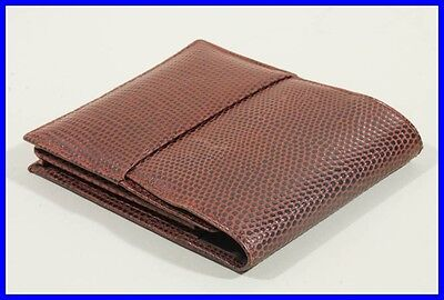 Snake print leather pouch for FIVE bigger pen /pencils - brown leather inside