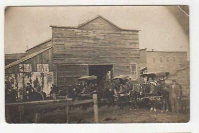 A DUVALL LIVERY BARN, HORSE AND BUGGY STABLE, REAL PHOTO POSTCARD, C1910