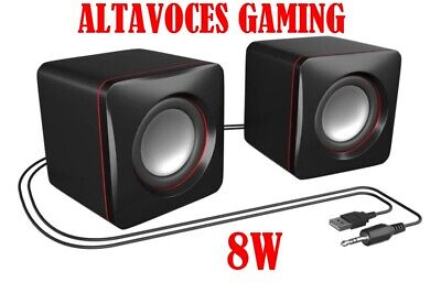 AB1 ALTAVOCES GAMING USB PC MARS0 SONIDO 3D JACK 3.5MM OPTIMIZACION GRAVES