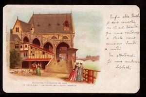 1900-les-degres-de-la-sainte-chappelle-Paris-France-exposition-postcard
