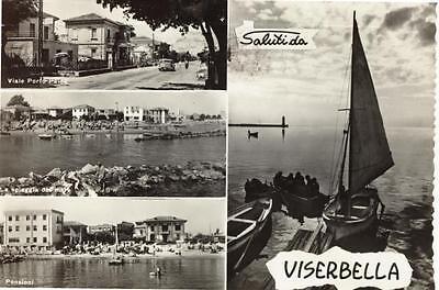 VISERBELLA SALUTI DA VEDUTINE VIAGGIATA 1960