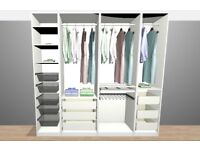 Large Ikea Pax wardrobe with sliding doors for sale