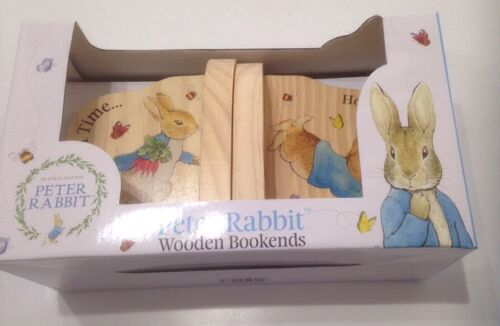 Peter Rabbit wooden bookends christening new baby gift nursery decoratio4