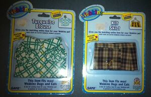 Webkinz-Dogs-Cats-Clothing-Lot-Turquoise-Blouse-Top-Plaid-Kilt-Skirt-With-Codes