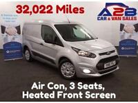 2015 15 FORD TRANSIT CONNECT TREND 1.6 220 95 BHP 32,022 MILES, 3 SEATS, AIR CON