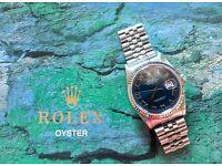 Rolex DateJust 16234 Blue Roman - WG Bezel - F-Serial (2005)