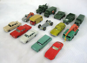 LOT DE 18 MATCHBOX VINTAGE 1960  CIVIL et MILITAIRE...