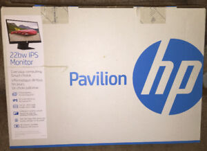 """HP Pavilion 22BW IPS 21.5"""" Monitor new in box"""