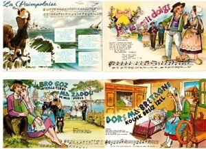 7 cartes postales : CHANSONS FRANÇAISES