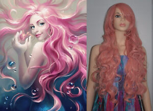 BRAND NEW: Deluxe 90cm Pink Wig for MERMAID Costume