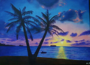 Beautiful Summer Sunset Painting