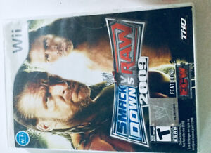 WWE SMACK DOWN VS RAW 2009 Wii GAME