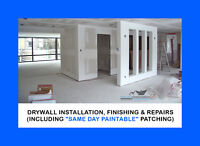 QUALITY Drywall, taping and SAMEDAY patch repairs!