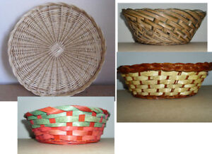 Wicker Tray and Baskets