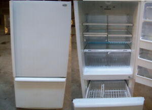 Fridge White - Bottom Freezer - DURHAM APPLIANCES LTD.