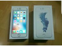 Immaculate Apple phone 6s white silver unlocked boxed
