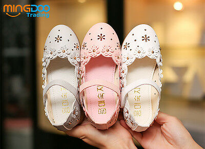 New Cute Children Kids Flats Girls Princess Shoes for Toddler Flower Soft Sole - Cute Shoes For Girls