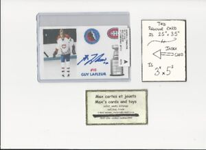 Carte Autograph Index Card Hockey Montreal Canadiens 100% COA