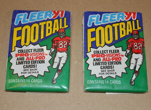 Fleer 1991 NFL football two pack