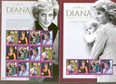 Isle of Man-Princess Diana 2017 Tribute sheet/ Folder mnh-Royalty-Limited print