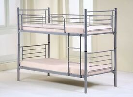 70% CUT PRICE!! NEW HIGH QUALITY METAL BUNK BED! WITH METAL MESH FOR THE BASE